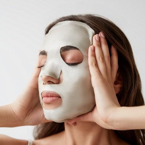 Серебряная маска для лица