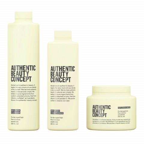Восстанавливающий шампунь, кондиционер и маска для поврежденных волос