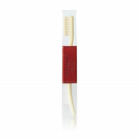 Зубная щетка с нейлоновой щетиной мягкая Ivory White