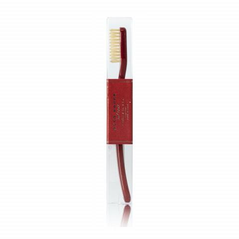 Зубная щетка с натуральной щетиной средней жесткости Venetian Red