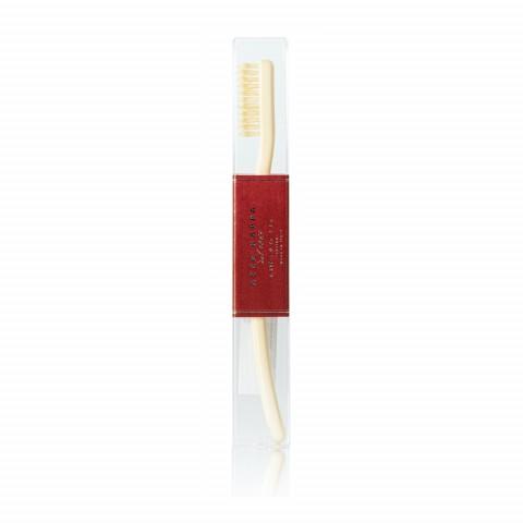Зубная щетка с натуральной щетиной средней жесткости Ivory White