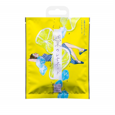 """Соль-саше для ванн """"Расслабляющий лимонад"""" с ароматом лимона и меда"""