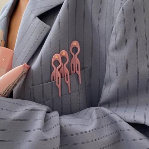 Заколка Пудрово-Розовая 3 шт.