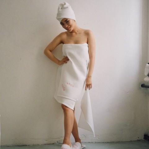 Вафельное полотенце большое