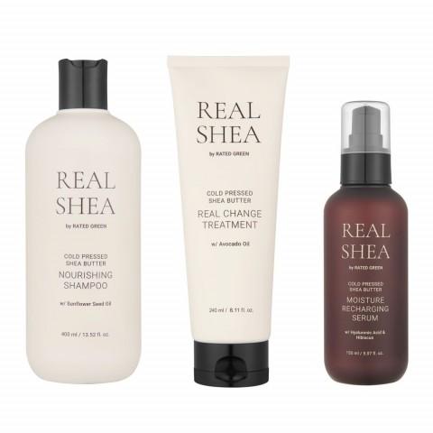 Набор для увлажнения волос с маслом ши (3 продукта)