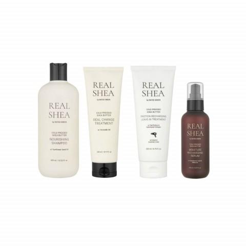 Набор для восстановления волос с маслом ши (4 продукта)